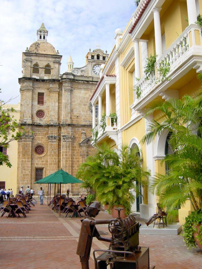 Foto's stadswandeling in Cartagena Colombia