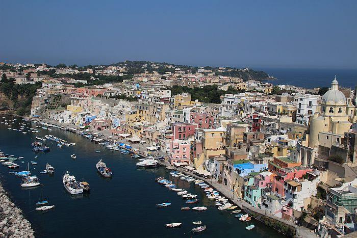 fotos van eiland procida italie