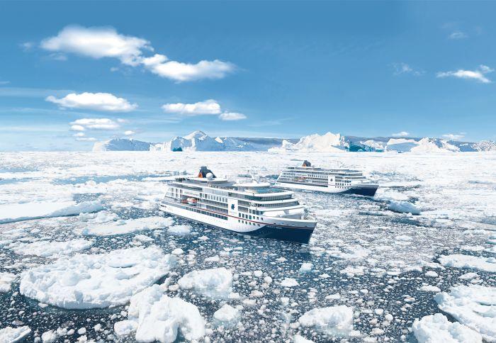 Eerste foto's van Hapag-Lloyd Cruises nieuwe expeditieschip HANSEATIC inspiration
