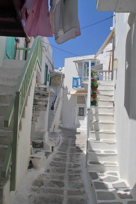 Het eiland Mykonos