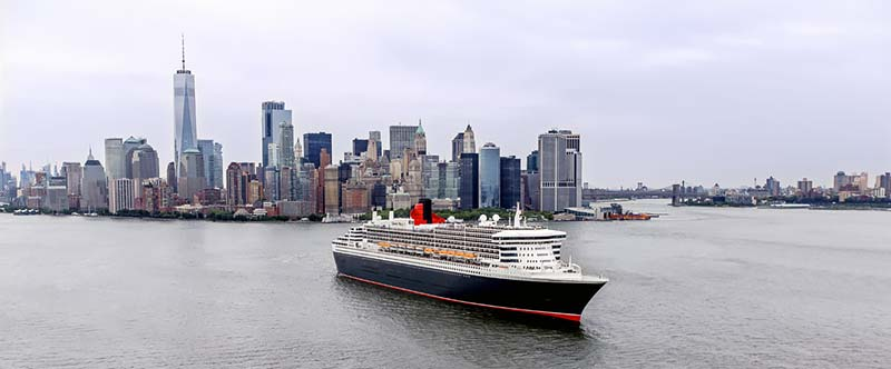 Queen Mary 2 van Cunard in New York
