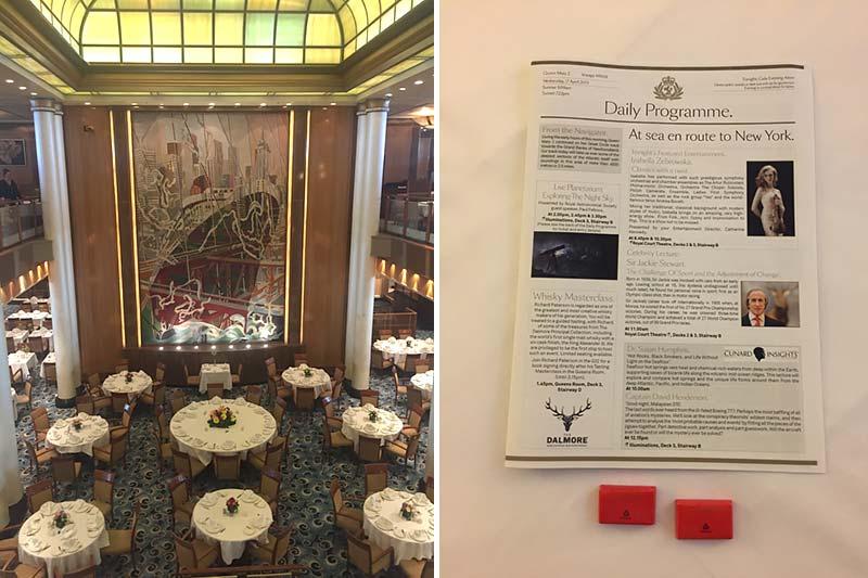 Britannia Restaurant op de Queen Mary 2 van Cunard