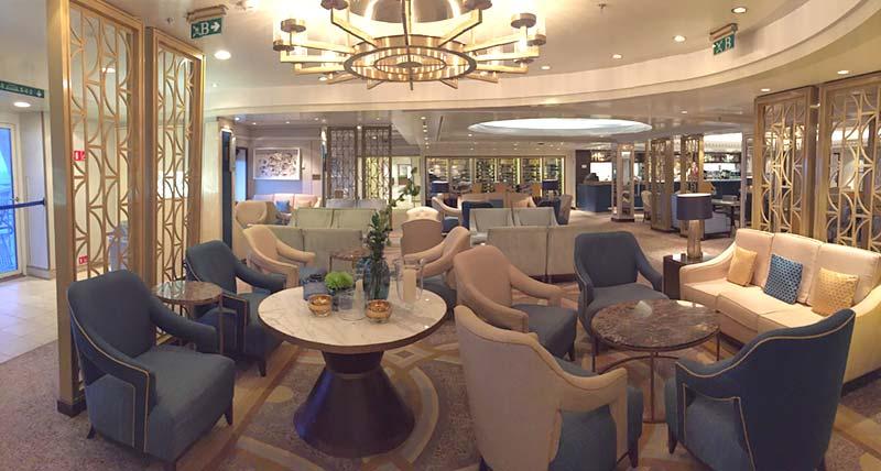 Carinthia Lounge op de Queen Mary 2 van Cunard