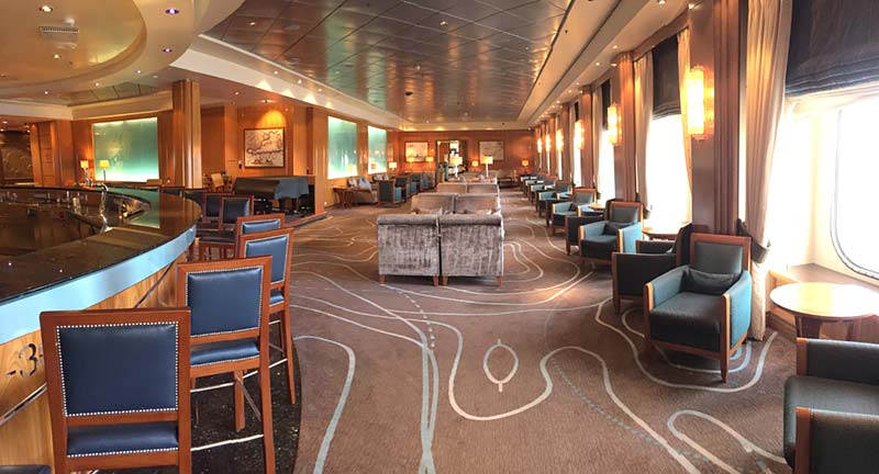 Chart Room op de Queen Mary 2 van Cunard