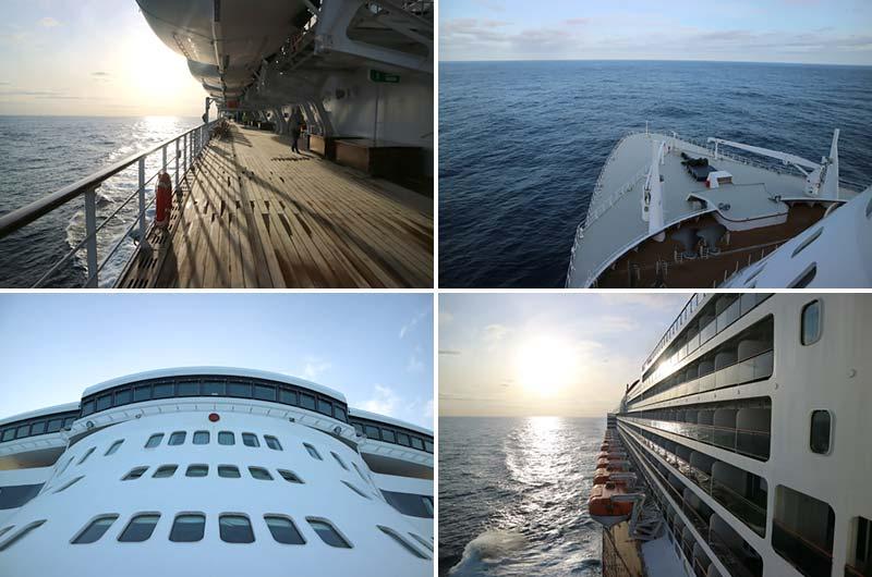 Ochtendwandeling op de Queen Mary 2 van Cunard