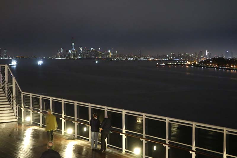 Aankomst New York op de Queen Mary 2 van Cunard