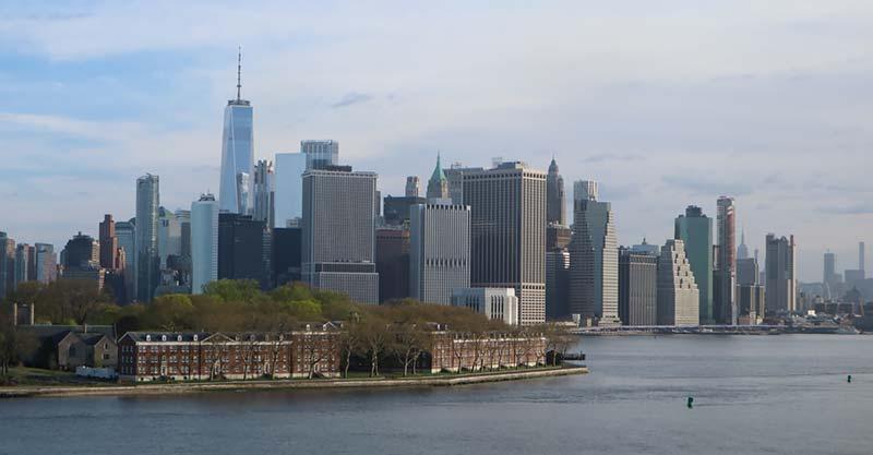 Aankomst New York op de Queen Mary 2 van Cunard