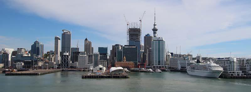 Vertrek uit Auckland, Nieuw-Zeeland