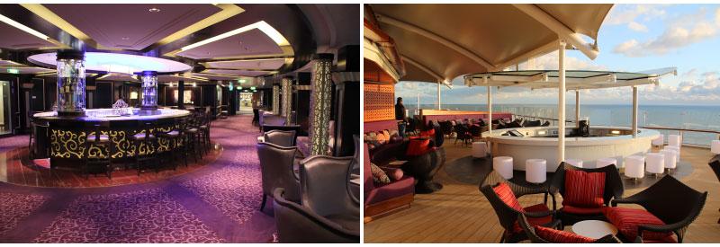 Ensemble Lounge en Sunset Bar op Celebrity Cruises Celebrity Reflection