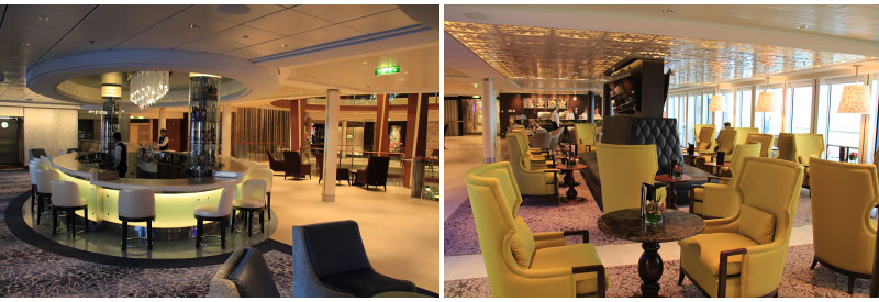 Martini Bar en Cafe Al Bacio op Celebrity Cruises Celebrity Reflection