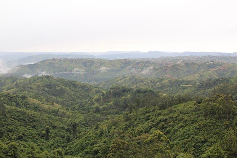 Valley of 1000 Hills, Zuid--Afrika vanuit Durban