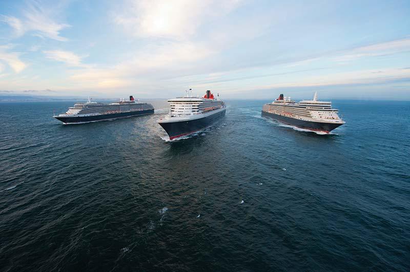 de vloot cruiseschepen van Cunard