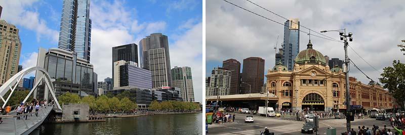 Het centrum van Melbourne, Australie