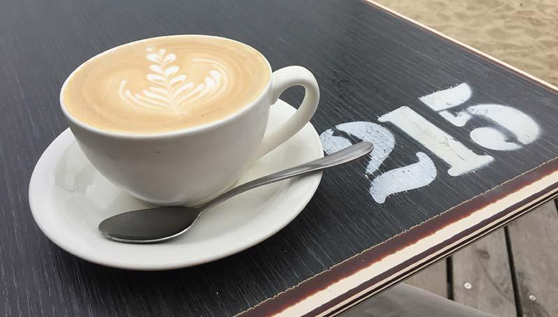 Flat White koffie in St. Kilda, Melbourne, Australie