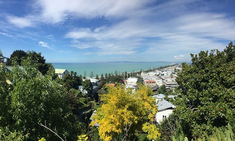 Uitzicht op Napier, Nieuw-Zeeland