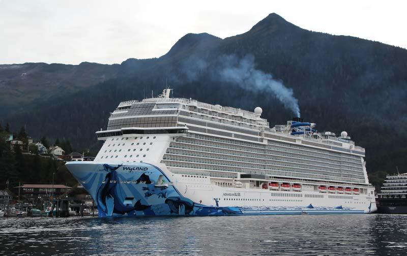 Norwegian Bliss cruiseschip in Ketchikan Alaska