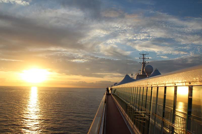 Oudjaarsavond aan boord van de Norwegian Spirit in de Middellandse Zee