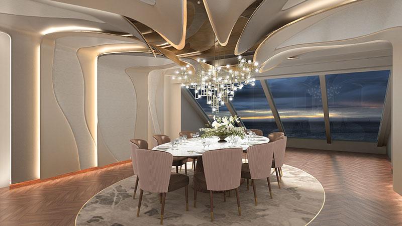 privee private dining restaurant op cruiseschip vista van oceania cruises