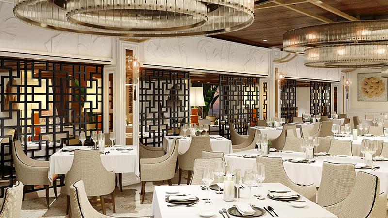 red ginger aziatisch restaurant op cruiseschip vista van oceania cruises
