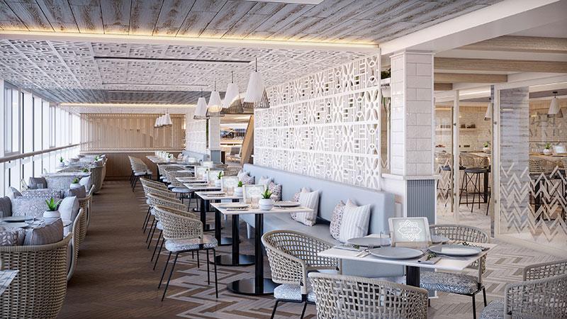 aquamar kitchen healthy food restaurant op cruiseschip vista van oceania cruises