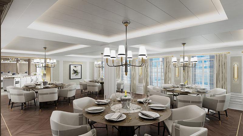 culinary center restaurant op cruiseschip vista van oceania cruises