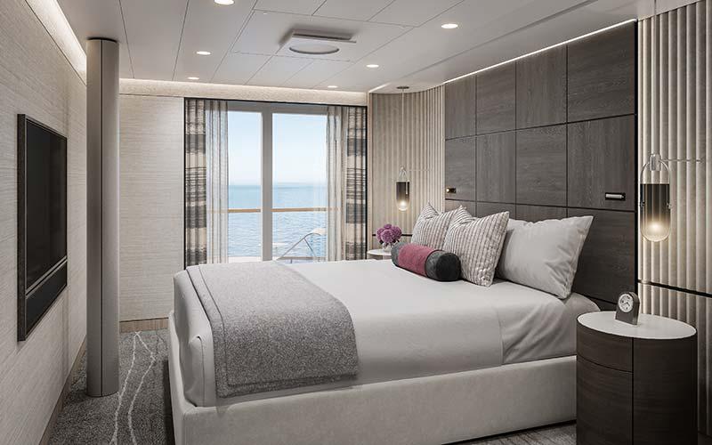 oceania suite slaapkamer op cruiseschip vista van oceania cruises
