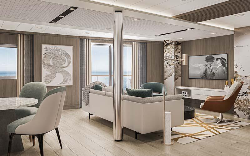 vista suite woonkamer op cruiseschip vista van oceania cruises