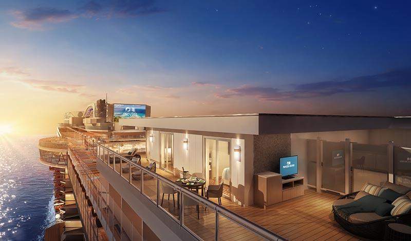 Sky Princess Sky Suite balkon - Princess Cruises