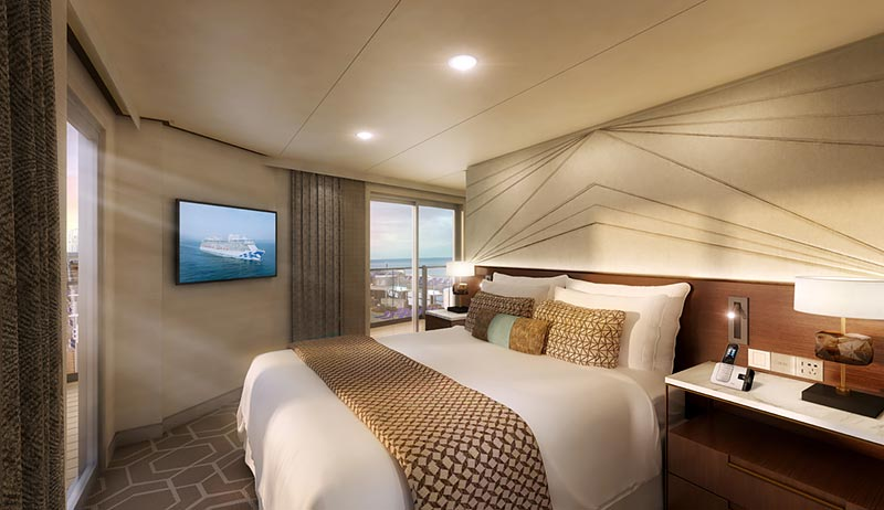 Sky Princess Sky Suite slaapkamer - Princess Cruises
