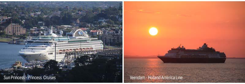 Sun Princess van Princess Cruises en Veendam van Holland America   Line