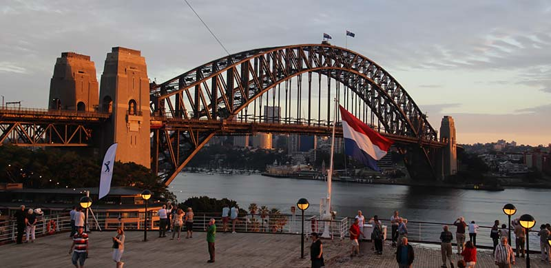 Cruise schip Noordam Holland America Line aankomst in Sydney, Australie