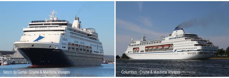 Vasco da Gama en Columbus van Cruise & Maritime Voyages