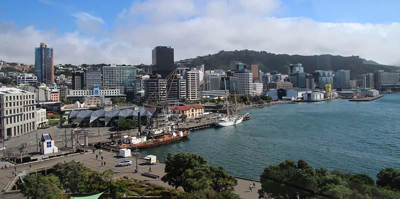 Uitzicht op Wellington, Nieuw-Zeeland