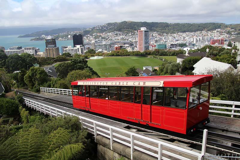 Kabeltrein in Wellington, Nieuw-Zeeland