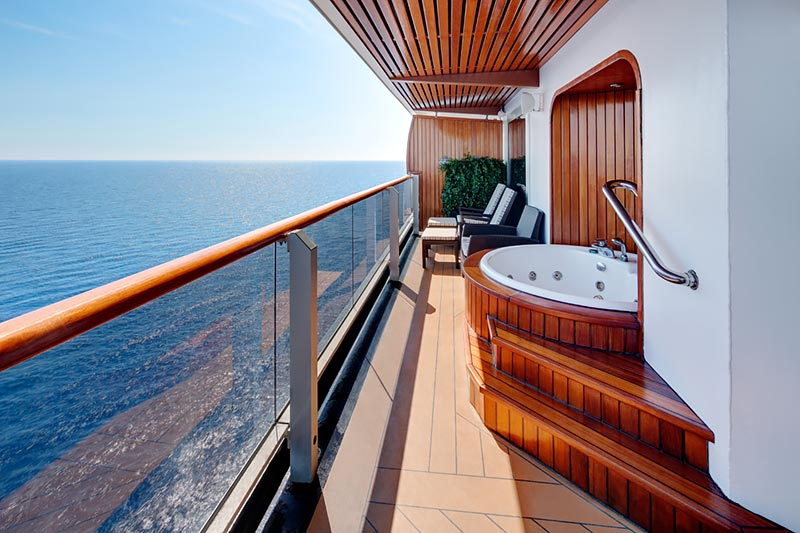 Westerdam Pinnacle Suite balkon - Holland America Line