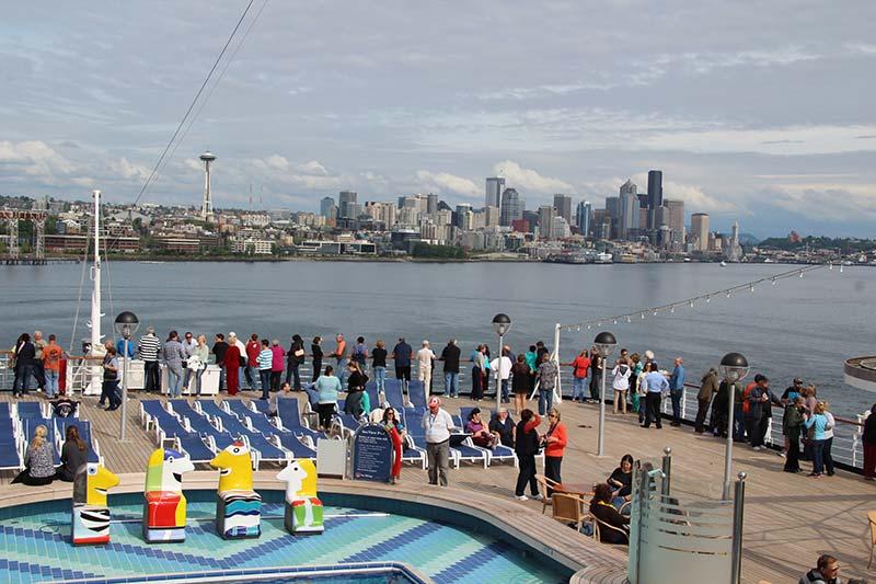 foto's van een cruise naar alaska