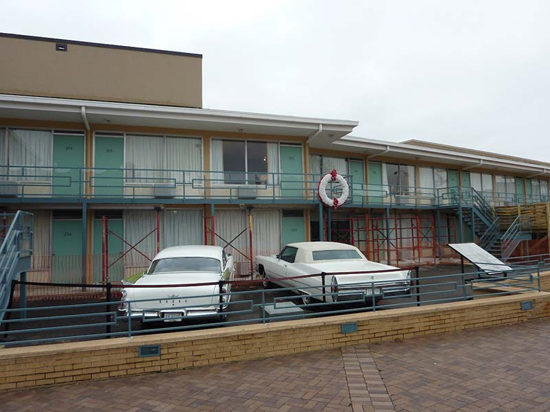 National Civil Rights Museum in het Lorraine Motel, Memphis