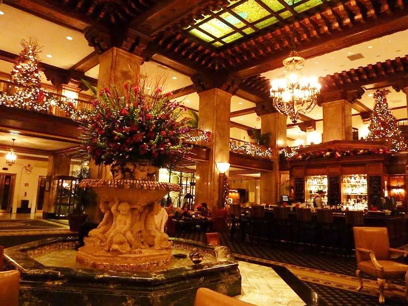 De lobby van het Peabody Hotel, Memphis