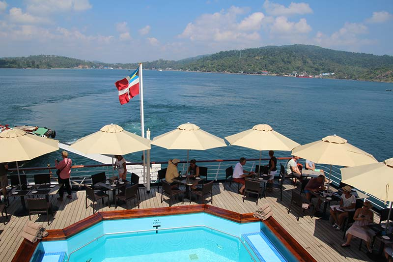 Silver Discoverer cruise schip - Aankomst in Port Blair, Andaman Eilanden