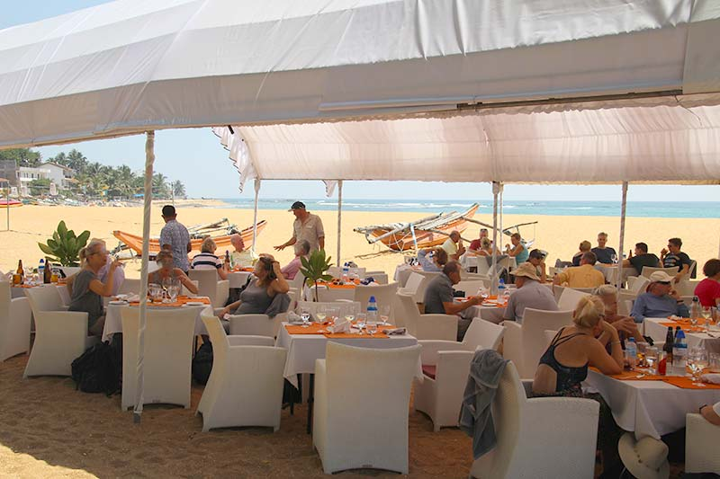 Silver Discoverer cruise schip - Lunch op strand in Galle, Sri Lanka