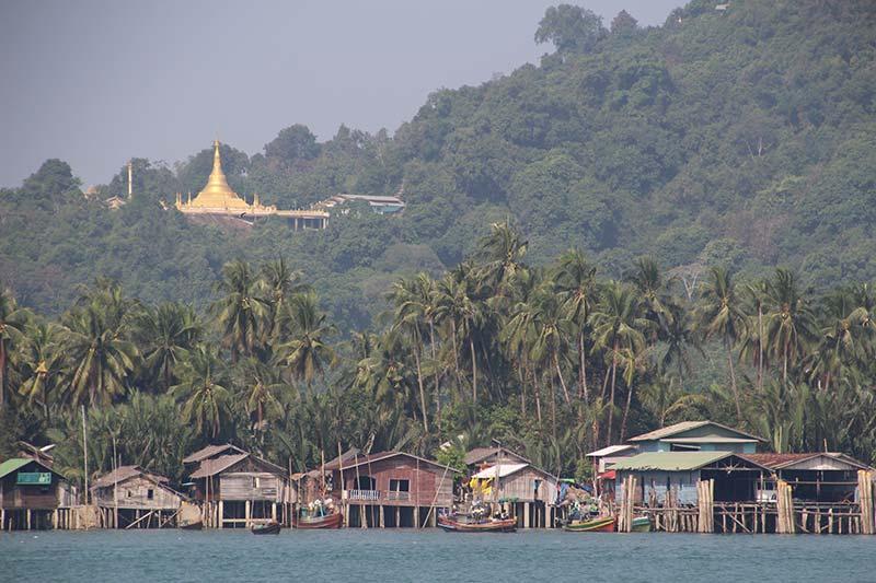 Silver Discoverer cruise schip - Aankomst in Myeik, Myanmar