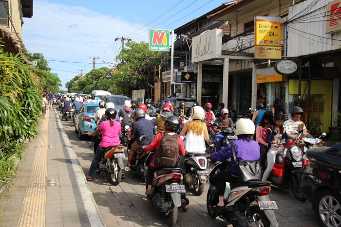 straatbeeld in ubud bali