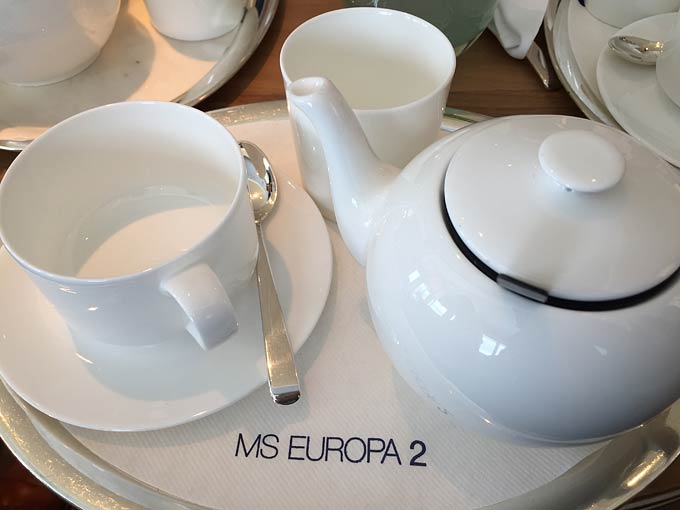 Europa 2 Hapag-Lloyd Cruises afternoon tea