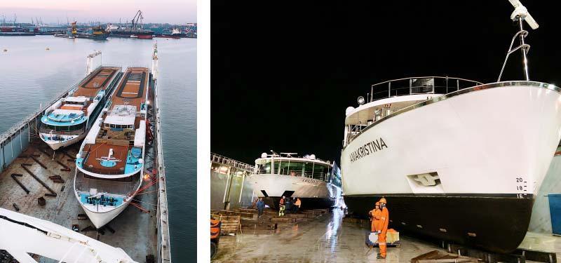 Rivierschepen van AmaWaterways maken een zeereis
