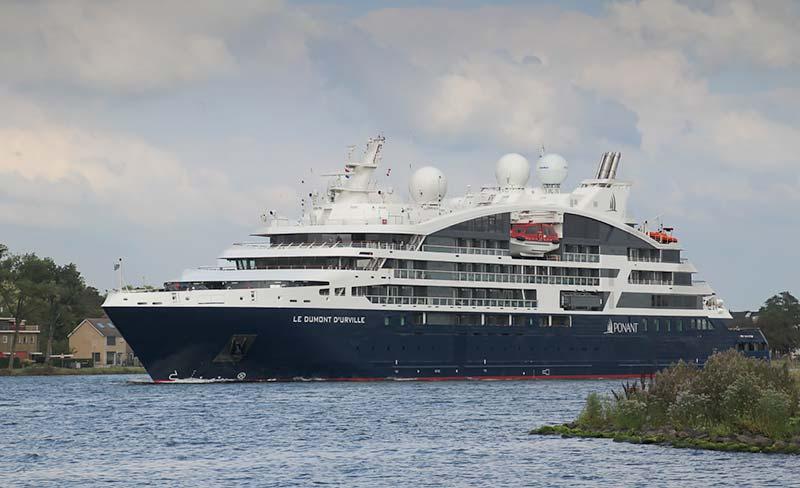 Le Dumont d'Urville, een nieuw luxe expeditie cruiseschip van Ponant