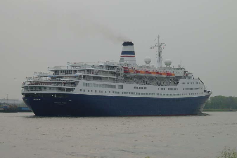 Klassiek cruiseschip Marco Polo op weg naar de sloopwerf?