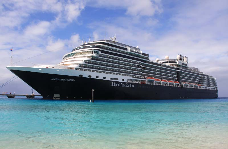 Holland America Line annuleert alle cruises tot 31 maart 2021