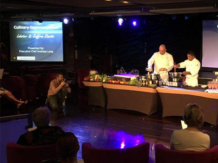 Seabourn kookdemonstratie: Risotto met kreeft