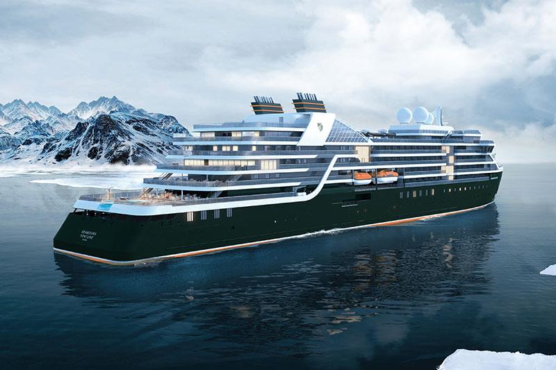Vertraging bij de bouw van luxe expeditie schip Seabourn Venture