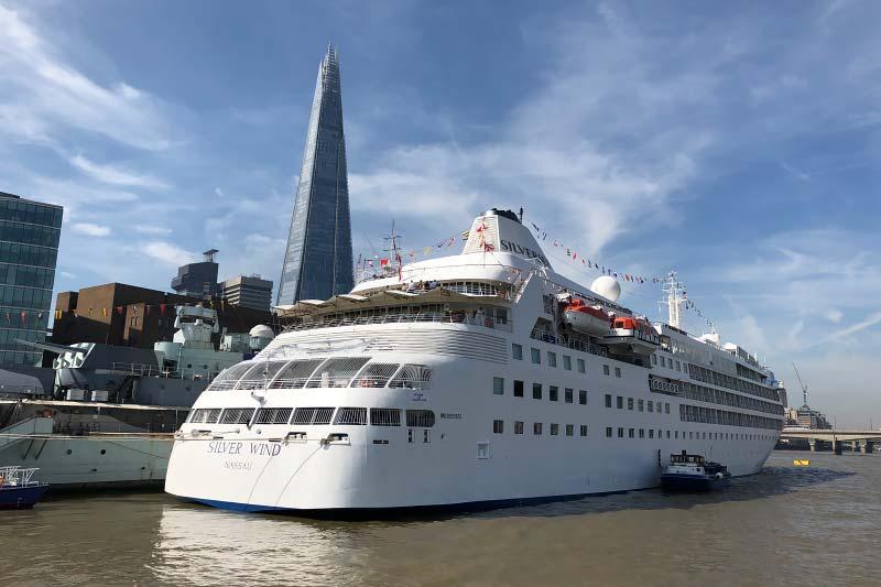 Waar zijn de cruiseschepen van Silversea Cruises nu?
